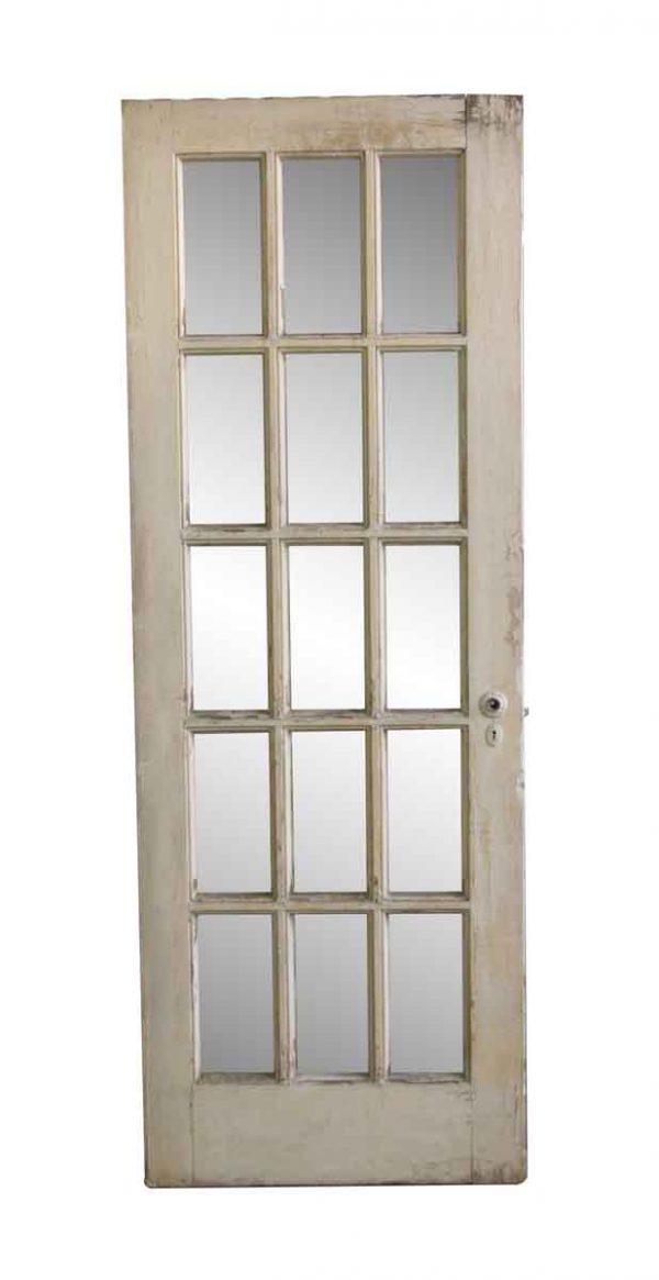 French Doors - Vintage 15 Lite Old French Passage Door 82.75 x 29.625