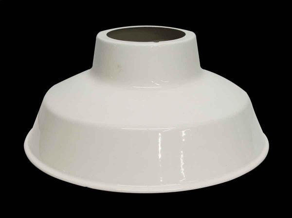 Industrial & Commercial - Old New Stock White Enameled Light Shade