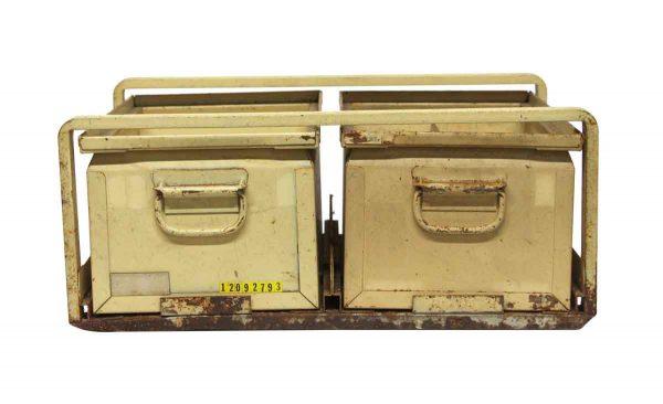 Industrial - Pair of Steel Framed Industrial Steel Bins
