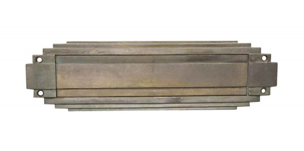 Mail Hardware - Vintage Art Deco Nickel Door Mail Slot