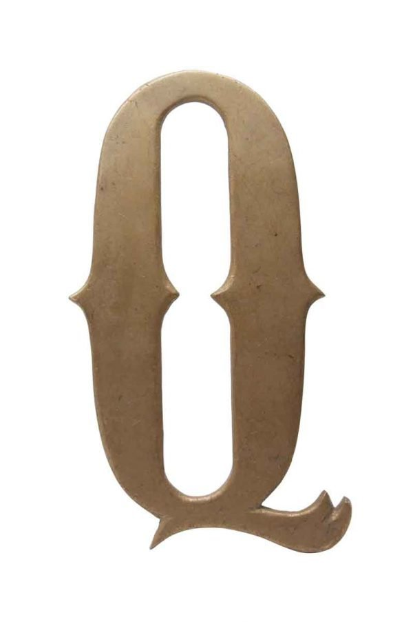 Other Hardware - Small 7.75 Solid Brass Letter Q
