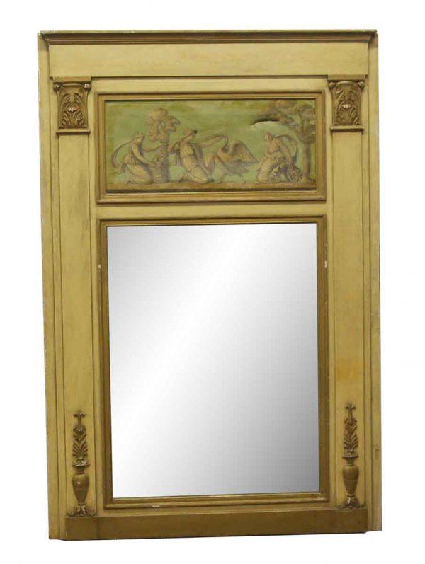 Overmantels & Mirrors - Hand Painted Waldorf Astoria Wall Mantel Mirror