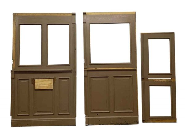 Paneled Rooms & Wainscoting - Oak Room Divider Set with Florentine Glass