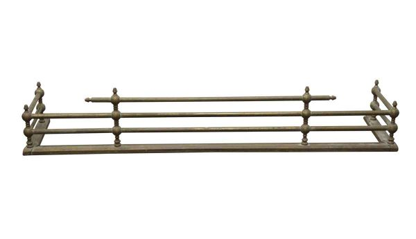 Screens & Covers - Antique Federal 4 Foot Brass Fireplace Fender