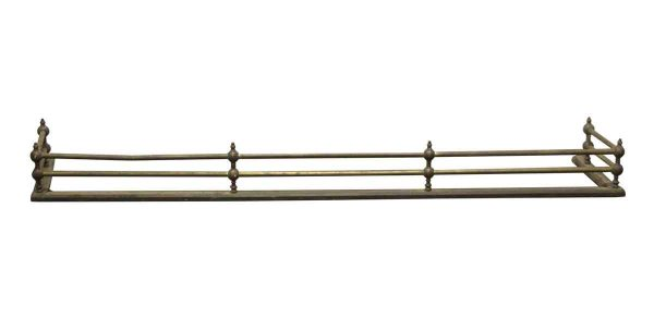 Screens & Covers - Traditional Antique 5 Foot Brass Fireplace Fender