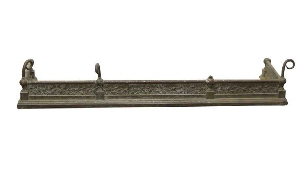 Screens & Covers - Victorian Brass 4 Foot Fireplace Fender