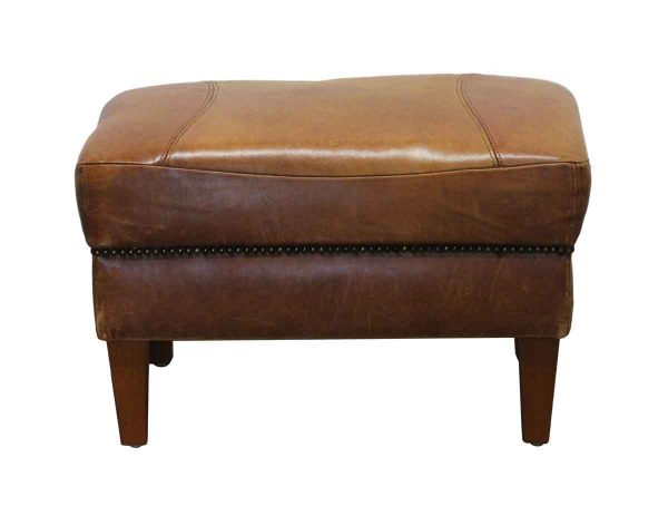 Seating - Imported Brown Leather Footrest
