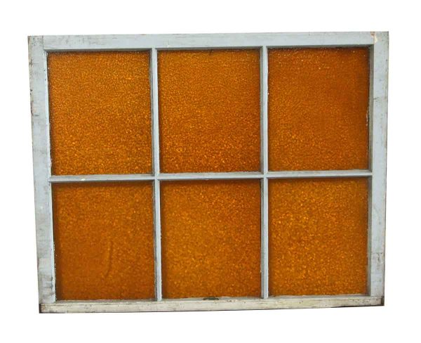 Stained Glass - Antique Orange Textured Stained Glass Window