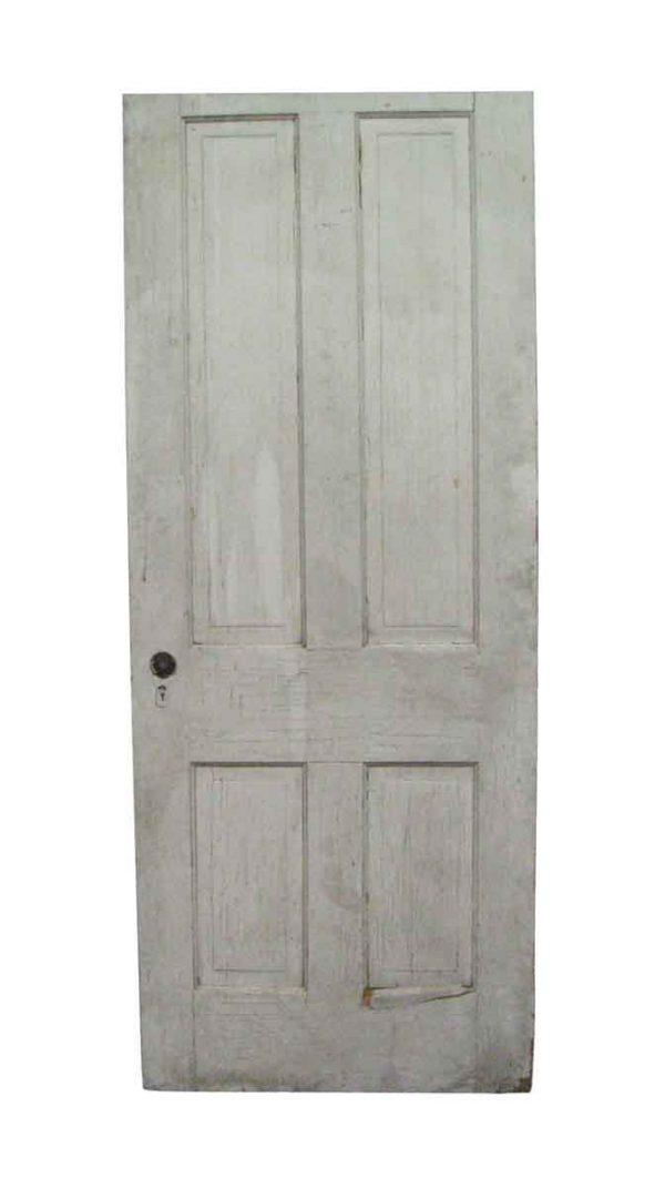 Standard Doors - Antique 4 Vertical Panel Passage Door 77.125 x 30
