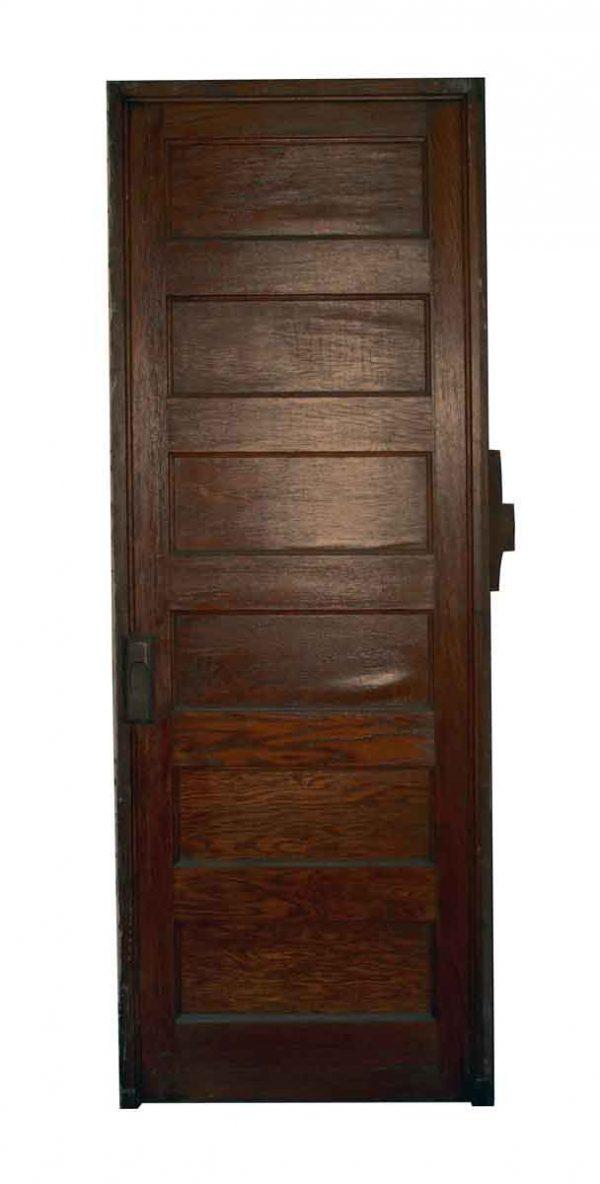 Standard Doors - Antique Dark Tone Wood Six Panel Door 83.25 x 30.25