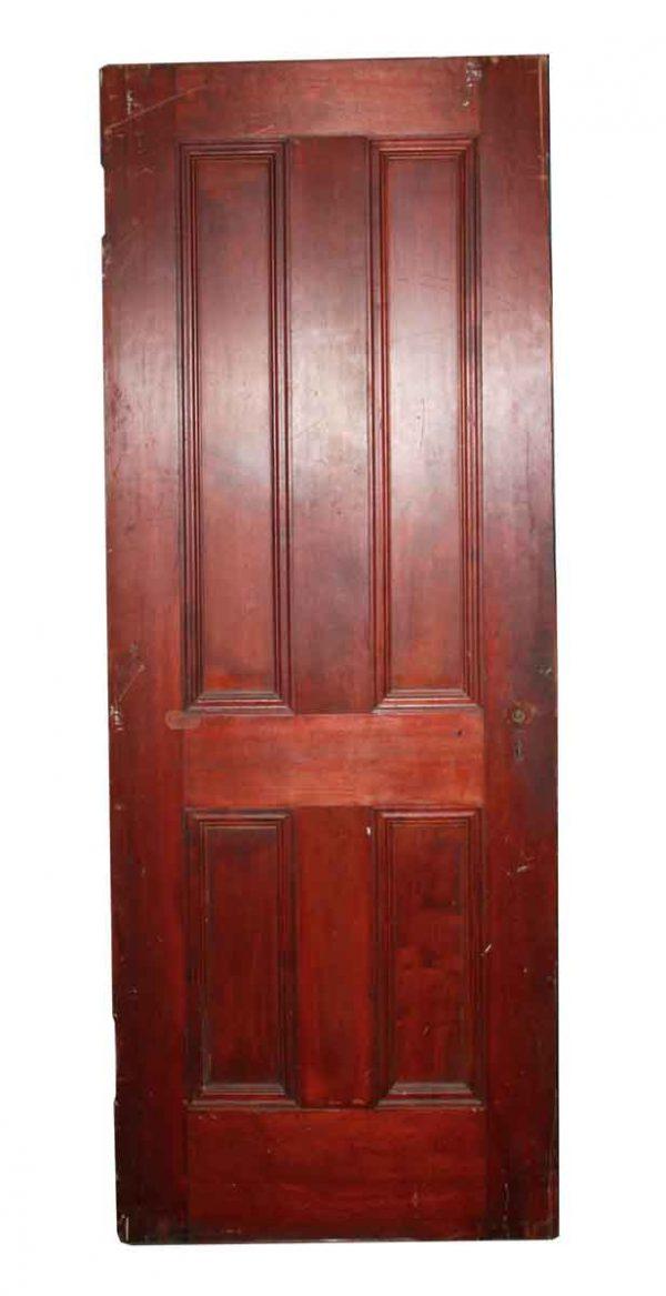 Standard Doors - Antique Dark Wood Tone 4 Panel Door 77 x 29.5