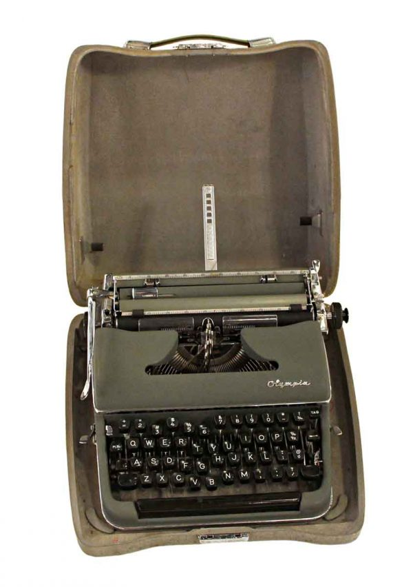 Typewriters - Olympia Vintage Typewriter with Case
