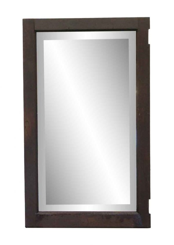Wood Molding Mirrors - Distressed Beveled Cabinet Door Mirror