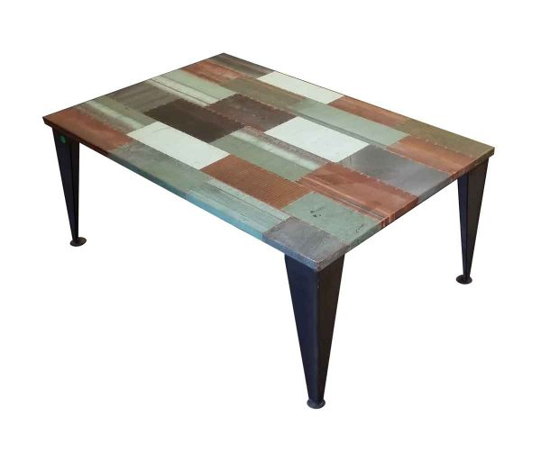 Altered Antiques - Custom Copper Patch Coffee Table