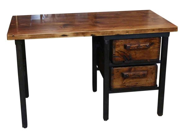 Altered Antiques - Handmade Pine Desk with 2 Wooden Bins