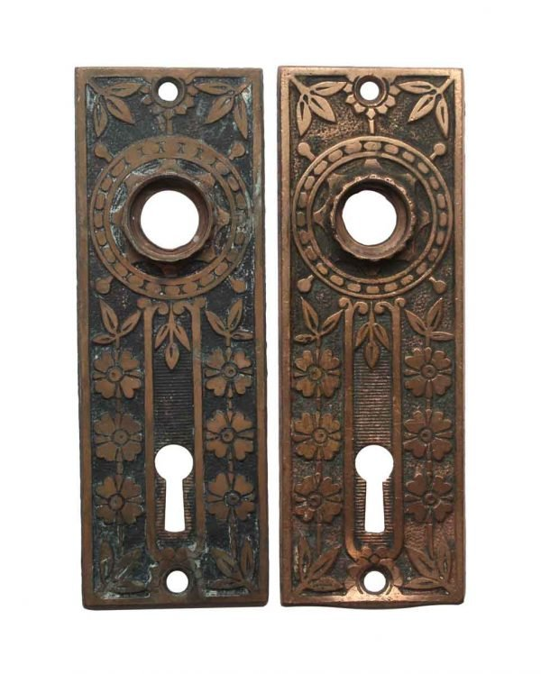 Back Plates - Pair of 5 in. Aesthetic Brass Keyhole Plates