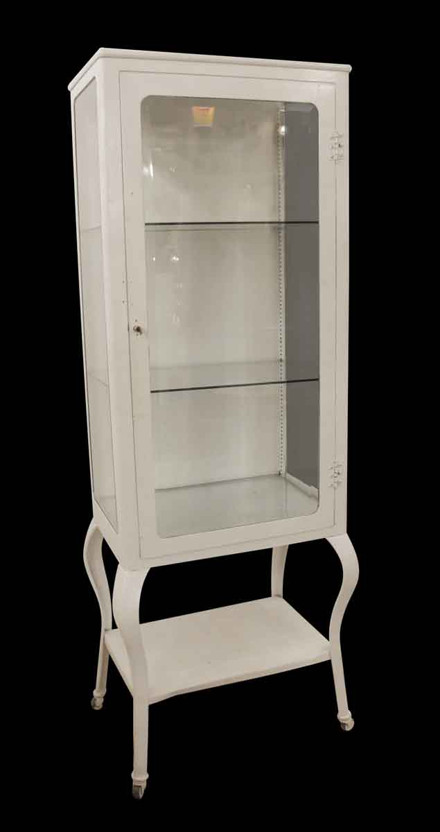 Antique White Medical Cabinet With Beveled Glass Olde Good Things