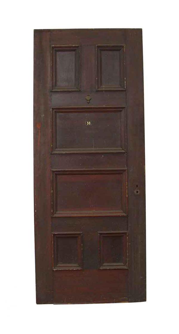 Commercial Doors - Antique 6 Panel Wood Apartment Door 89.25 x 35.75
