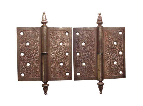 Door Hinges - 5 x 5 Bronze Pair of Lift Off Right Hand Antique Door Hinges
