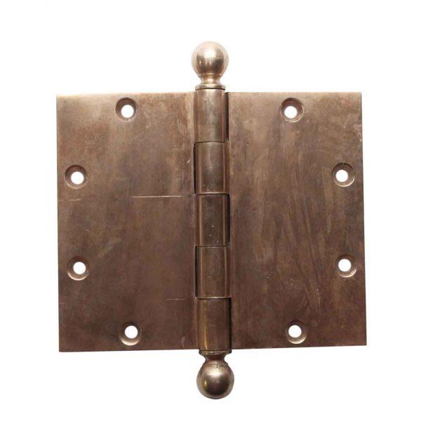 Door Hinges - 5 x 6 Yale & Towne Brass Ball Tip Butt Door Hinge