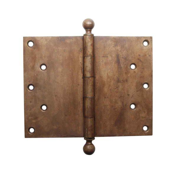 Door Hinges - 7 x 9 Brass Ball Tip Butt Door Hinge
