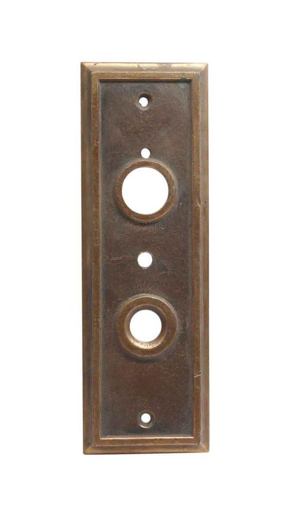 Elevator Hardware - Antique Otis Cast Bronze Elevator 2 Button Plate