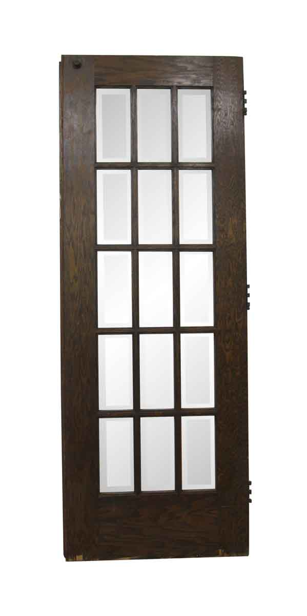 French Doors - Vintage 15 Lite Oak French Door 83.75 x 30.75