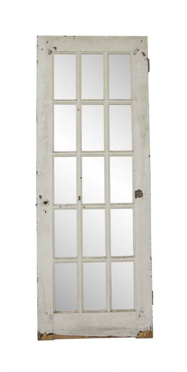 French Doors - Vintage 15 Lite White French Door 79.75 x 29.75
