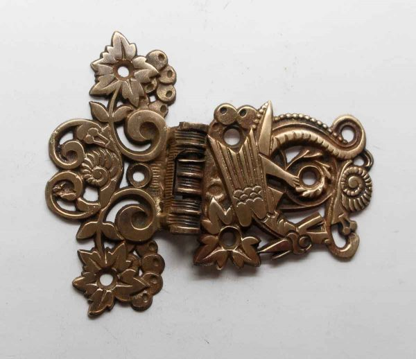 Ice Box Hardware - Ornate Brass Victorian Ice Box Hinge