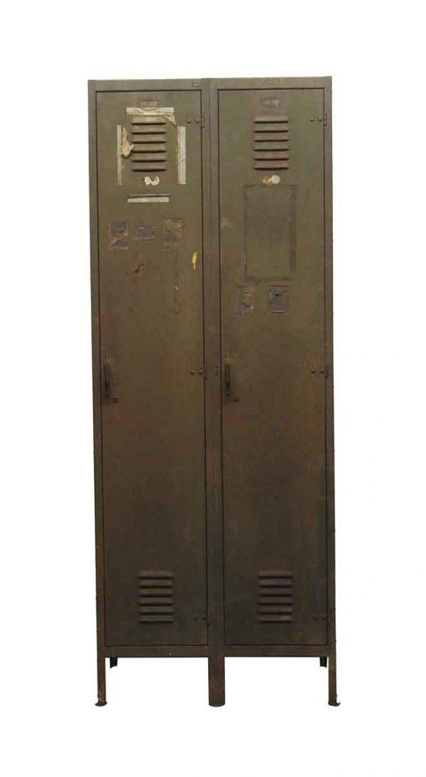 Industrial - Vintage Green Double Locker