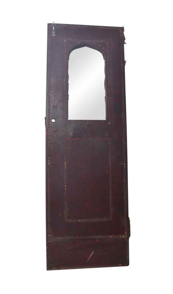 Specialty Doors - Antique 1 Wire Glass Lite Leather Wooden Door Sizes Vary