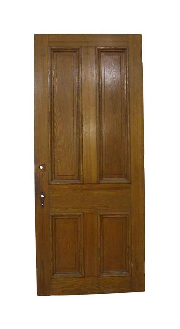 Standard Doors - Antique 4 Panel Wooden Privacy Door 88.5 x 37
