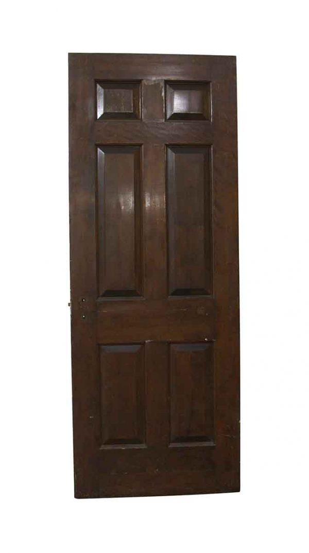 Standard Doors - Antique 6 Panel Wood Passage Door 83.75 x 31.75