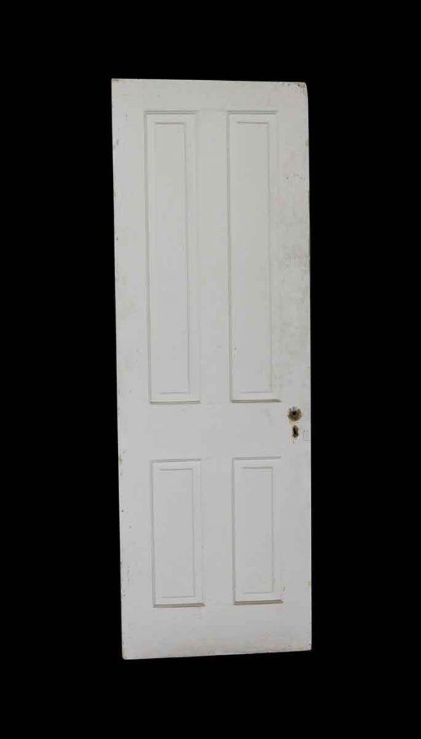Standard Doors - Antique White 4 Panel Wood Passage Door 75.875 x 25.75