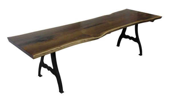 Walnut Dining Table - Live Edge Walnut Dining Room Table with New York Legs