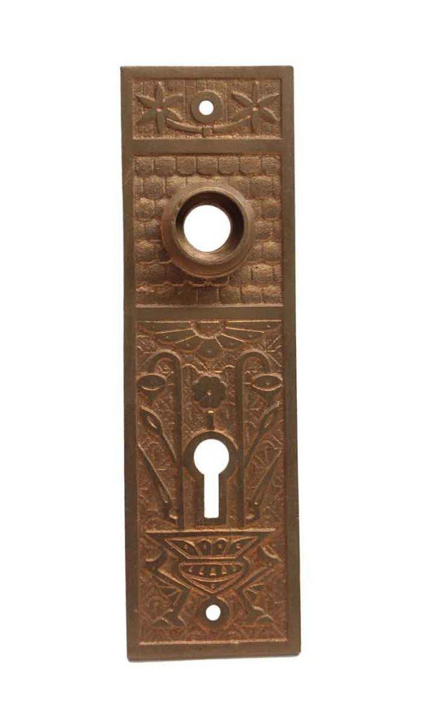 Back Plates - Antique Bronze 5.625 H Aesthetic Door Back Plate