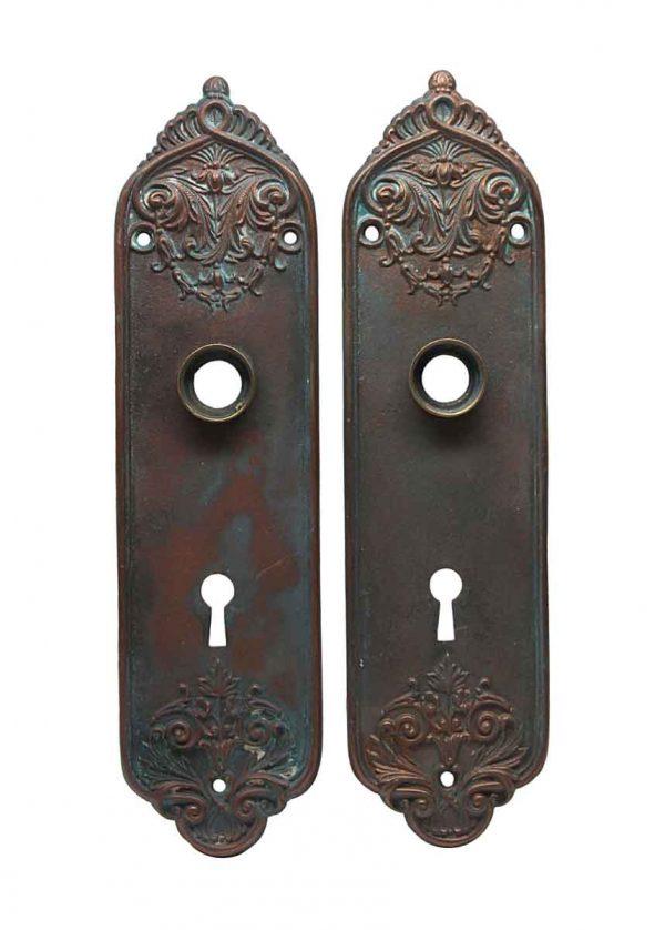 Back Plates - Bronze Pair of Door Back Plates