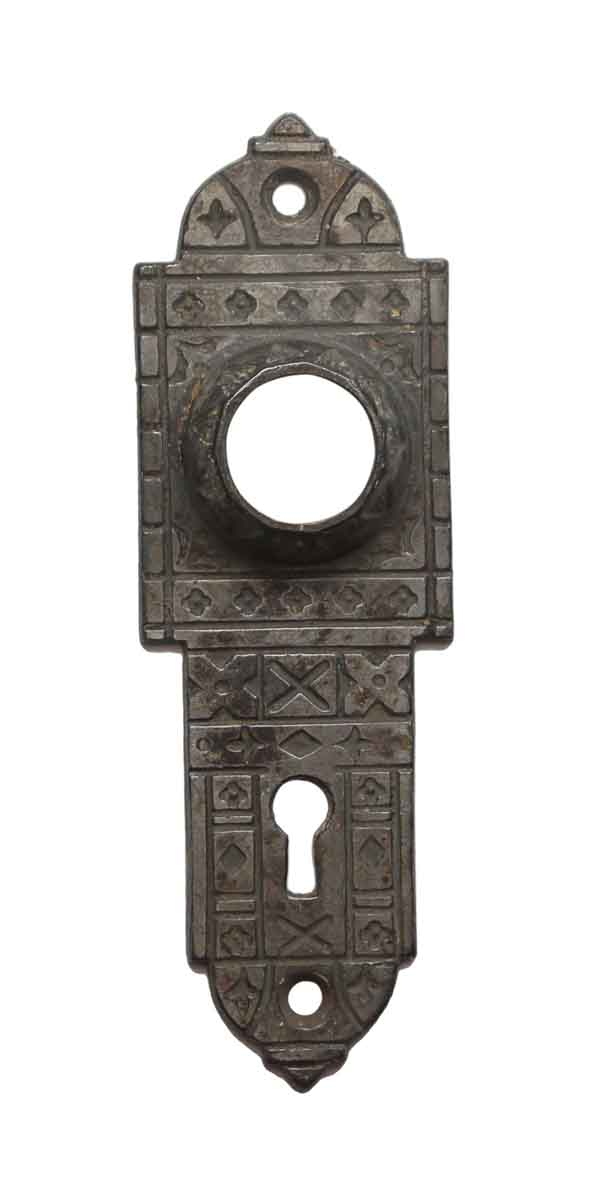Back Plates - Cast Iron Aesthetic 5.5 H Door Back Plate