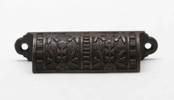 Cabinet & Furniture Pulls - Antique Aesthetic 3.875 in. Cast Iron Bin Drawer Pull
