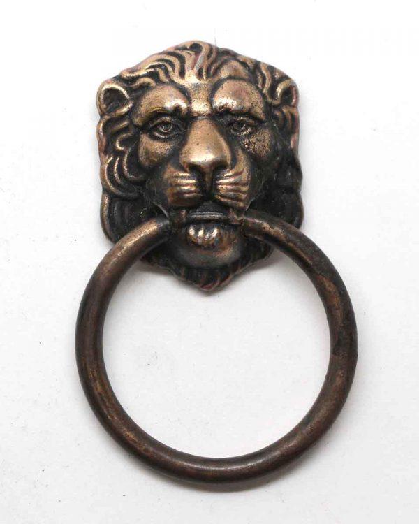 Cabinet & Furniture Pulls - Bronze Lion Head Drop Drawer Pull