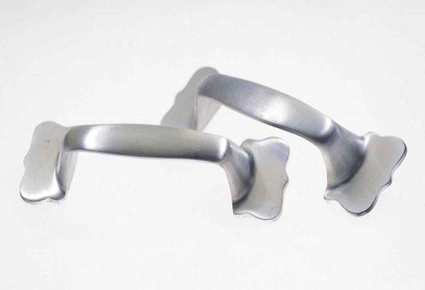 Cabinet & Furniture Pulls - Brushed Nickel Scolloped End Drawer Pulls