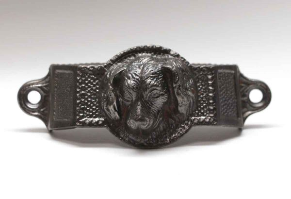 Cabinet & Furniture Pulls - Original Cast Iron Dog Face Bin Pull