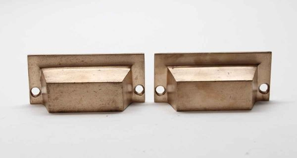 Cabinet & Furniture Pulls - Pair of Classic 3.25 in. Brass Bin Drawer Pulls