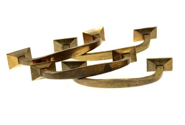 Cabinet & Furniture Pulls - Set of Four Brass Bridge Pulls