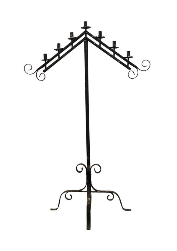 Candle Holders - Standing 7 Light Wrought Iron Candelabra