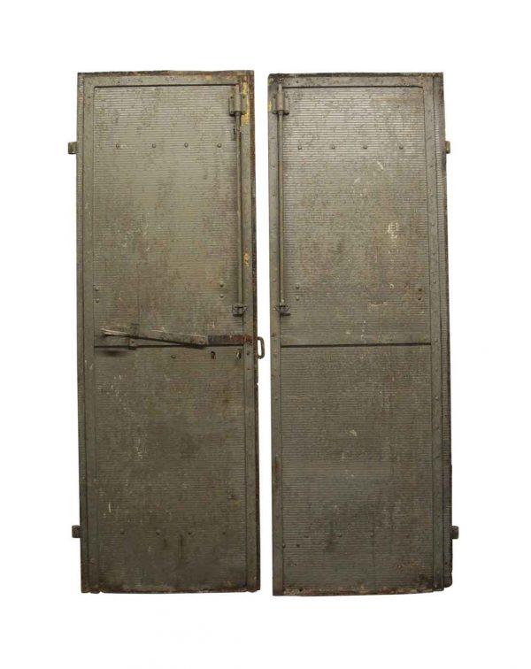 Commercial Doors - Salvaged Steel Double Doors 93.5 x 64.25