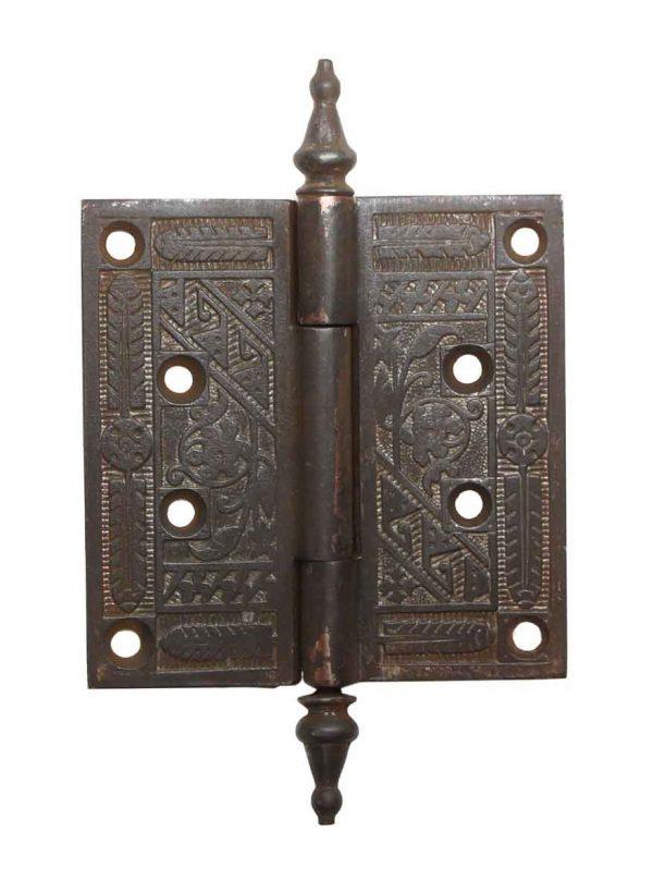 Door Hinges - 4.25 x 4.25 Cast Iron Aesthetic Antique Door Hinge