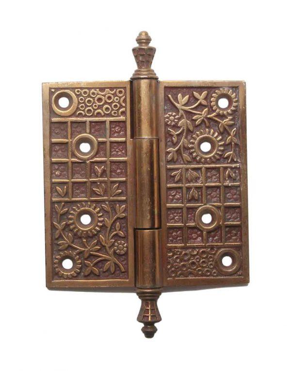 Door Hinges - Antique 4 x 4 Bronze Vernacular Door Butt Hinge