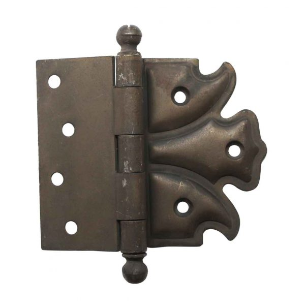 Door Hinges - Antique Steel 4 x 5 Half Mortise Door Hinge
