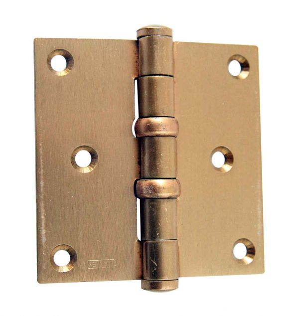 Door Hinges - Vintage 3.5 x 3.5 Brass Butt Door Hinge